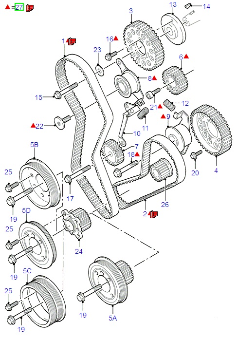 Ford Fiesta/Fusion Timing Belt Kit (1997-2002)