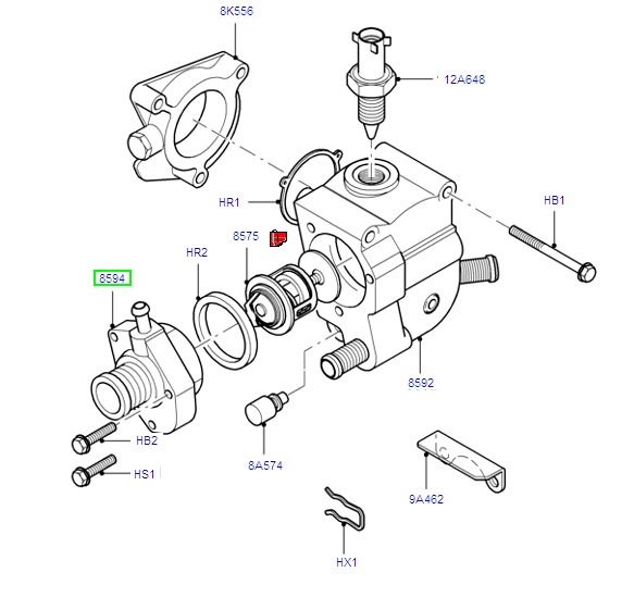 Thermostat Housing 1.8 zetec 1995-2005 Focus