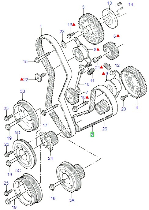 Ford Fiesta/Fusion Timing Belt Kit (1995-1997)