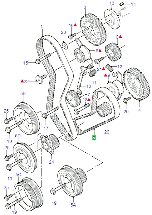 Sc on 2002 Ford Focus Timing Belt Diagram