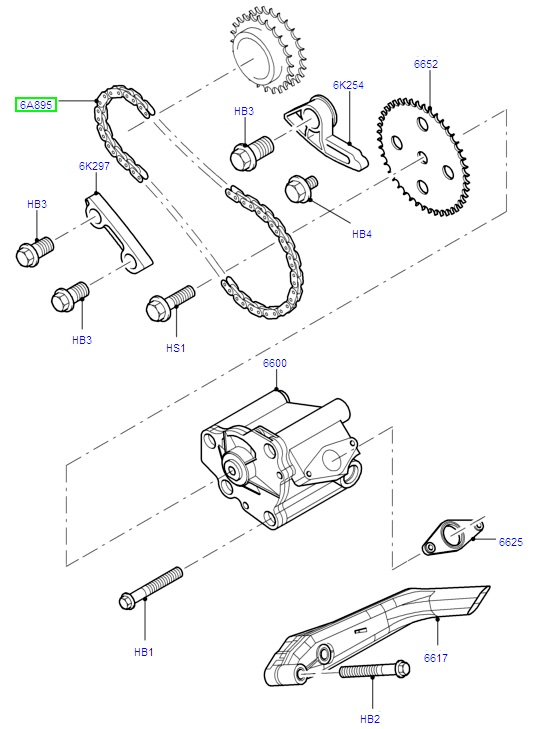 Oil Pump Chain Assembly