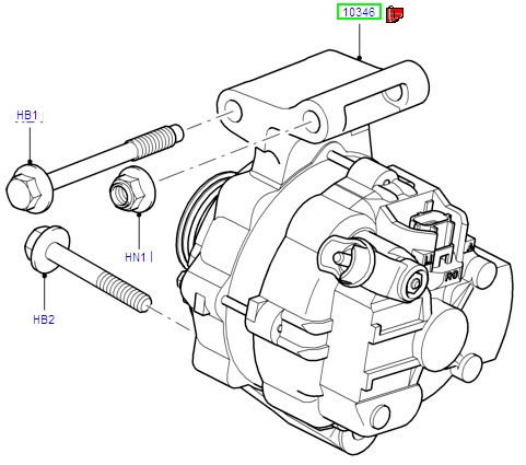Ford Alternator Parts Diagram
