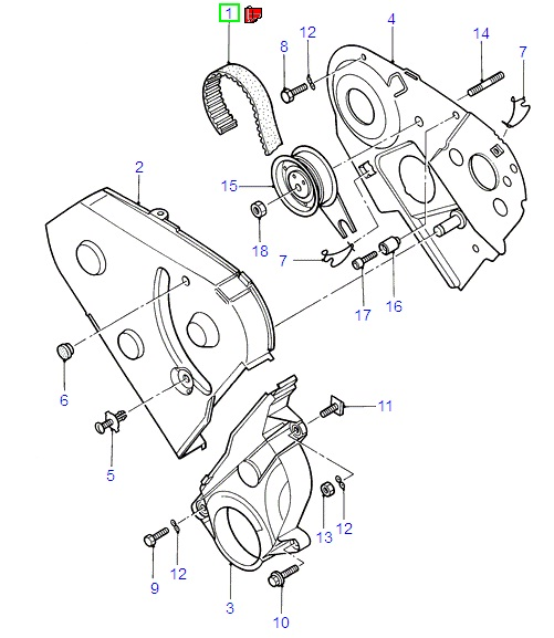 Timing Belt For Ford Galaxy Vx 19942000: Ford Ka Duratec Engine Diagram At Obligao.co