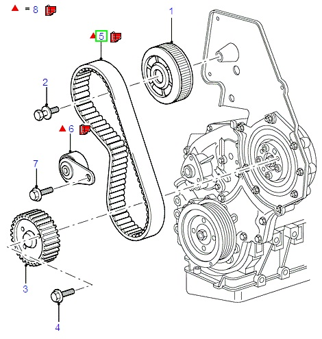 Ford Mondeo Timing Belt Kit 2007-, Suits Duratorq