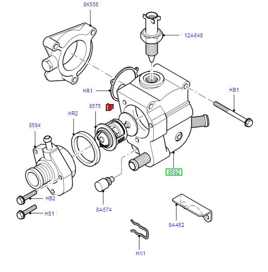 Thermostat Housing (2 sensors)