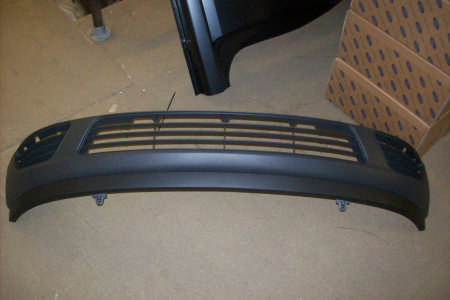 Ford Fiesta Fusion Front Bumper. Lower, Grey Finish, Less Fog Lamps 2001/-