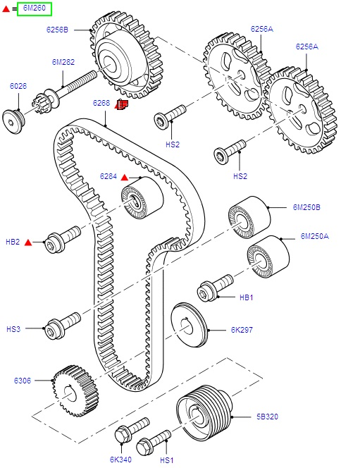 Ford Focus Timing Belt Kit 1998-2005