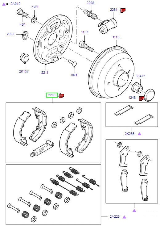Ford Fiesta Brake Shoes (1995-2000)