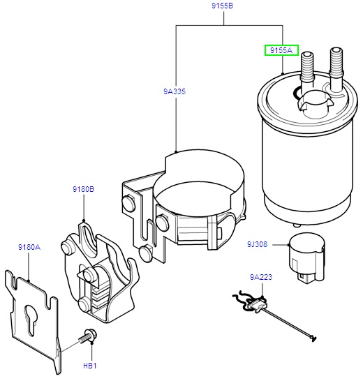 transit connect fuel filter