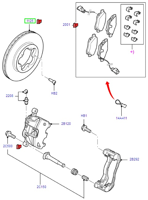 Ford Transit Brake Discs 2006-, Suits Duratec-HE, 330/350 Series, (+) FWD, Front