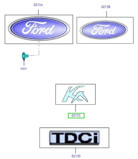 Badge 'Ford'
