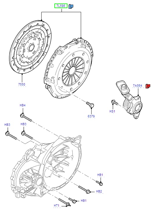Ford Mondeo Clutch Kit 2007-, Suits Duratorq