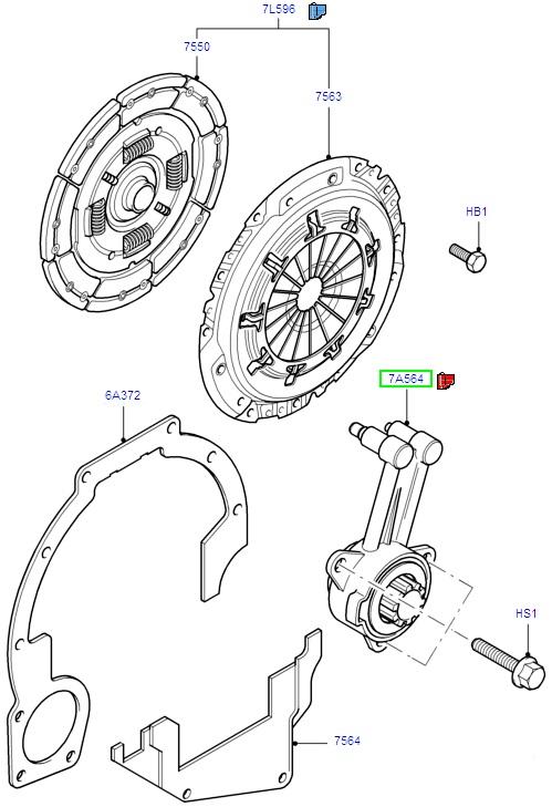 ford focus clutch release assemblies     b5  ib5 1998-2003  1715642  -  u00a3113 68