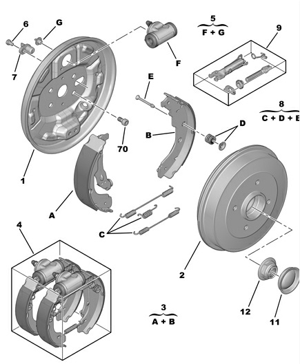 Buy brake shoes parts in uxbridge london tomo motorparts