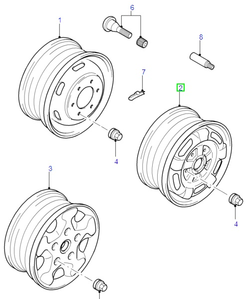 "Ford Transit Wheel Assembly 5.5 x 16"" Steel Wheel, Single Rear Wheels 2006/-"