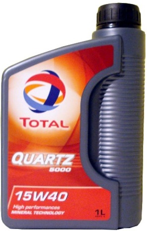 TOTAL Quartz 5000 15W/40 Engine Oil 1 Litre