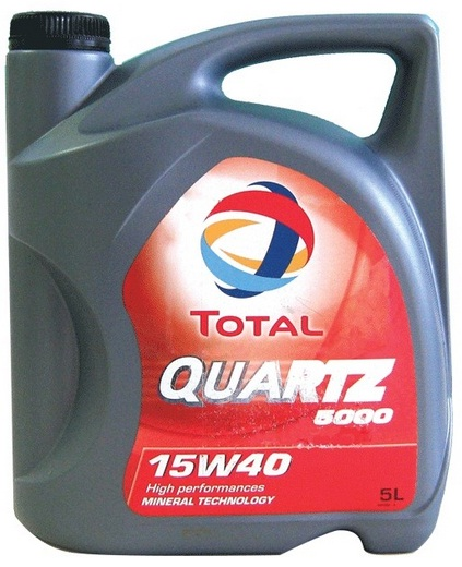 TOTAL Quartz 5000 15W/40 Engine Oil 5 Litres