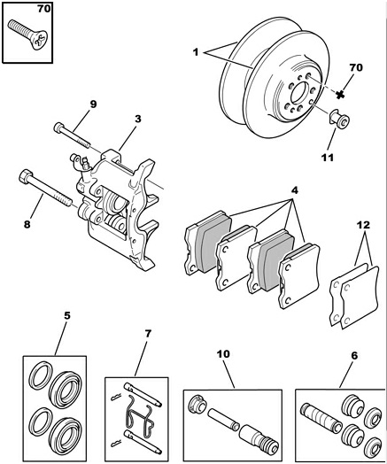 Citroen C5 III 1.6D Rear Brake Discs (Pair)